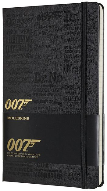 James Bond zápisník Moleskine linkovaný Titles L