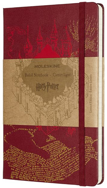 Harry Potter zápisník Moleskine linkovaný L Map Red