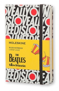 The Beatles zápisník Moleskine linkovaný S All